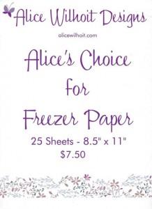 Freezer Paper Cover