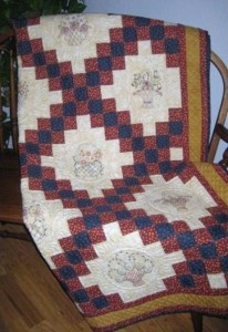 Irish Chair and Pretty Baskets